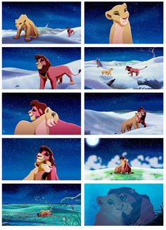 Lion King 2! I seen this! Simba's daughter falls in love with this one lion that looks kinda like Scar. It shows them together right here! First Simba's daughter is sad because they all thing the lion that Simba's daughter fell in love with was a bad guy but he was a good guy. It gets better tho!