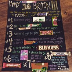 What Do You For One Of Your Cute Young Women Who Is Turning 16 Years Old A Candy Poster With Advice On Dating Course And I Bet If Yo
