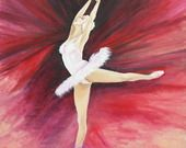"""Ballerina in arabesque"" - Dipinto olio su tela : Dipinti di artstudioidea"