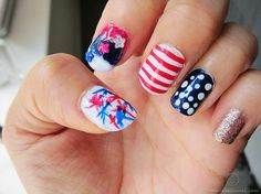Fourth of July nails idea