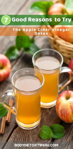 Doing an apple cider vinegar detox means that you'll be adding an additional tool to your detox arsenal, one that adds several healthy factors to …  #bodydetoxtips4u #detoxtips #detox #bodydetox #diet #applecider