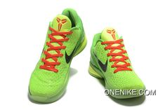 online retailer 560bb fb4a5 Nike Zoom Kobe 6 Grinch Christmas Green Mamba Basketball Shoes Top Deals