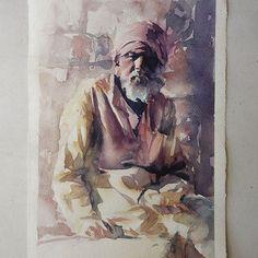 Terça-feira, #aquarela #watercolor. Workshop em SP: 1-2 de outubro. Inscrições: contato@pleinairstudio.com.br.
