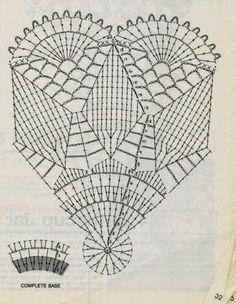 Szydełka dwa i wiele więcej. Crochet Doily Diagram, Crochet Mandala Pattern, Crochet Basket Pattern, Filet Crochet, Crochet Patterns, Crochet Fish, Crochet Bowl, Thread Crochet, Crochet Crafts