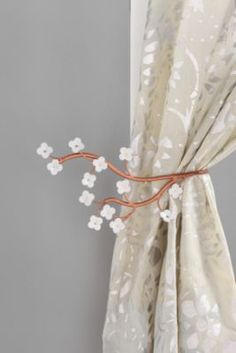 Cherry Blossom Curtain Tie-Back Urban Outfitters