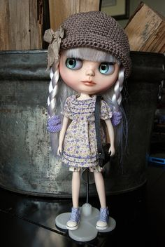 Blythe Doll Crochet Cotton Summer Hat by AuntieShrews on Etsy