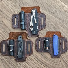 What set up would you choose? Leather Holster, Leather Pouch, Leather Tooling, Mochila Edc, Edc Belt, Knife Holster, Phone Holster, Everyday Carry Gear, Leather Projects