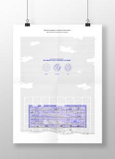 The Fabulous Super-Library, Ernesto Ibáñez – Beta Architecture Architecture Design, Architecture Graphics, Architecture Board, Architecture Drawings, Architecture Portfolio, Landscape Architecture, Design Apartment, Architectural Section, Portfolio Layout