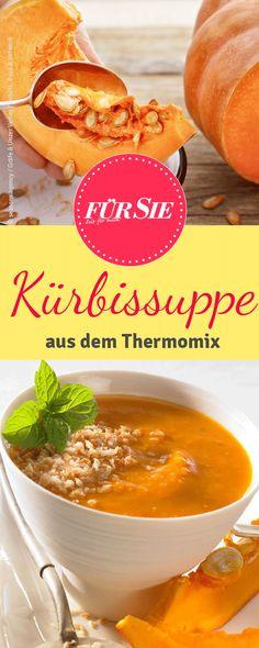 Diese leckere Kürbissuppe mit Kokosmilch kannst du im Thermomix zubereiten.