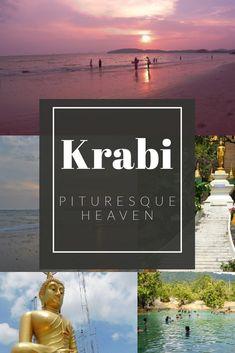 Krabi - Picturesque Heaven - The Neverending Honeymoon Krabi Town, Golden Buddha, Glass Pool, Krabi Thailand, Couple Beach, Natural Park, Travel Deals, Hot Springs, Asia Travel