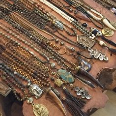 Assorted necklaces all one of a kind. Email lisajilljewelry@gmail.com for prices and availability.
