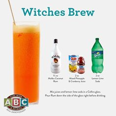 Witches Brew ft. Malibu rum
