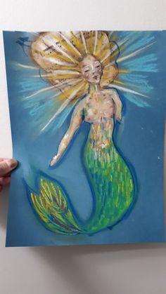 Mixed media by Mixed Media, Mermaid, Painting, Art, Art Background, Painting Art, Kunst, Mixed Media Art, Paintings