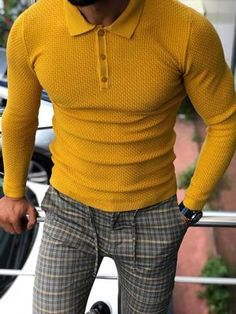 Best Polo Shirts, Best Casual Shirts, Slim Fit Polo Shirts, Polo Sweater, Men Sweater, Jumper, Casual Outfits, Men Casual, Casual Wear