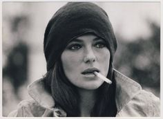 Jacqueline Bisset -love this photo of her-probably because I don't smoke. :)