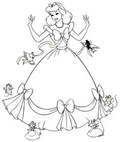 Cinderella - for coloring station