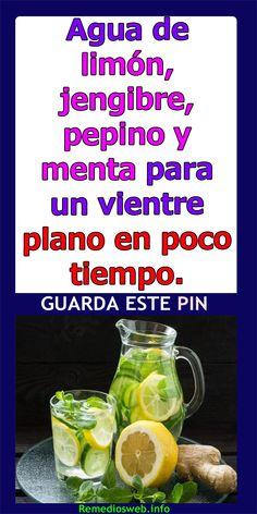 pepino limón menta jengibre agua pérdida de peso en hindi