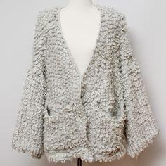 Textured knit cardigan It looks comfy