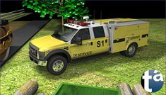 496 - TAEVision 3D Mechanical Design Automotive Machinery Construction 'Works on rural road Suffolk County NY' Ford Trucks OffRoad - FORD TRUCKS F-450 (View Camera A) Service CAT Caterpillar CarterMachinery
