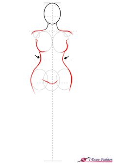 Figure Drawing Models How to draw plus size fashion figure step 5 Fashion Design Drawings, Fashion Sketches, Character Drawing, Character Design, Plus Size Fashion For Women Summer, Fashion Figure Drawing, Body Drawing Tutorial, Body Sketches, Figure Sketching