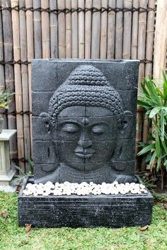 brunnen skulptur buddha kopf springbrunnen stein buddha. Black Bedroom Furniture Sets. Home Design Ideas