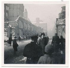 Foto Leipzig Februar 1944 Grimmaische Straße Ruinen Zerstörungen Luftangriffe ! | eBay