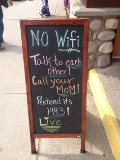 Sign in front of a café in Jasper, Alberta, Canada