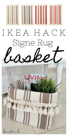 How to make an ikea signe rug basket kreativk.net