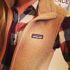 Favorite flannel & vest. #patagonia