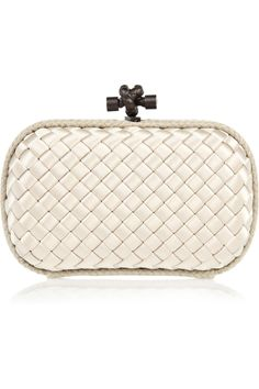 awesome clutch.    Bottega Veneta | Intrecciato satin knot clutch | NET-A-PORTER.COM