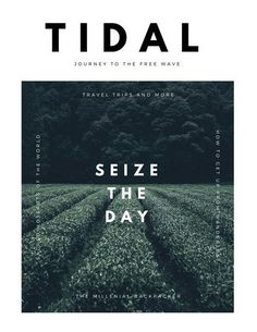 Tidal – Journey to the free tips to Travel. Tidal – Journey to the free tips to Travel. Magazine Cover Layout, Magazine Cover Template, Magazine Layout Design, Magazine Layouts, Magazine Articles, Poster Layout, Design Poster, Poster S, Layout Book