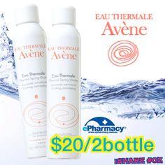 Eau Thermale Avène 溫泉保濕噴霧 2 罐$20! 只有EPharmacy  限時販售! #Skincare #Beauty #Discount