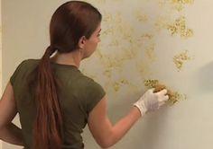 ¡Pinta tus paredes con una esponja!