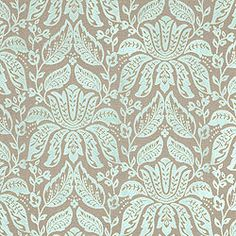 LUXEMBOURG DAMASK, Aqua, W71804, Collection Residence from Thibaut