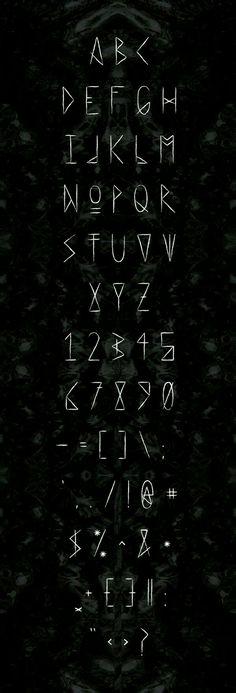 Tattoo Fonts Letters Alphabet Behance New Ideas - tattoo . - Tattoo Fonts Letters Alphabet Behance New Ideas – tattoo - Letras Cool, Ancient Runes, Journal Fonts, Calligraphy Letters, Typography Fonts, Typography Served, Tattoo Typography, Creative Typography, Creative Fonts