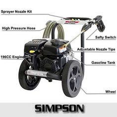 Easily Clean Away Dirt, Grime and Mildew with The Powerful Simpson Pressure Washer Awesome Cleaning Power Best Pressure Washer, Pressure Washers, Washer Pump, Belt Drive, Plumbing, Engineering, Pumps, Cleaning, Battery Operated