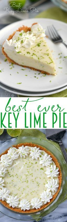 The Best Key Lime Pie recipe EVER! And so darn easy too! You won't be able to stop at just one slice!   MomOnTimeout.com