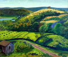 """Dogtown Valley in the Sun"", 1916, John French Sloan #Sloan #landscape"