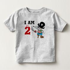 2 year old pirate birthday boy shirt T Shirt, Hoodie Sweatshirt