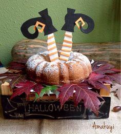 Hoy compartimos un bizcocho de calabaza y nueces para Halloween