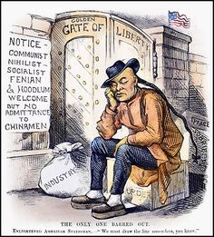 There was a lot of racist cruelty, especially towards Chinese. The United States had freedom that immigrants wanted. Many Chinese immigrants worked on railroads.