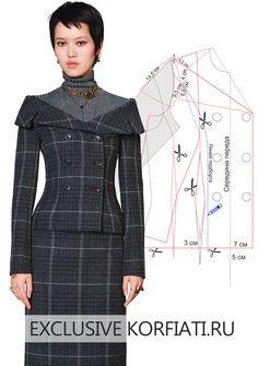 Coat Patterns, Dress Sewing Patterns, Clothing Patterns, Collar Pattern, Jacket Pattern, Sewing Collars, Patron Vintage, Robes Vintage, Fashion Sewing