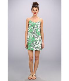 Lilly Pulitzer Dusk Silk Slip Dress Go Go Green Shape Up Or Ship Out