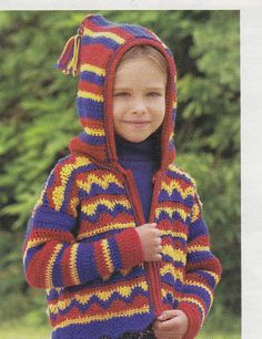 Child's Hooded Jacket Crochet Pattern - Zippered Hoodie