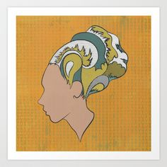 Busy Being Free (Orange) Art Print by Summer Romasco - $25.00