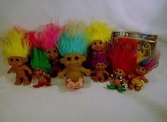 Large Lot of 11 Troll dolls DAM RUSS TNT Largo IMM  B USED #RUSSTNTDAMLARGO