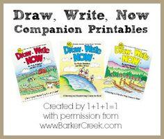 FREE Draw, Write, Now Companion Printables