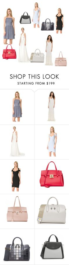 """""""Expressions yourself"""" by racheal-taylor ❤ liked on Polyvore featuring Club Monaco, Theia, Hervé Léger, Salvatore Ferragamo, Anya Hindmarch, Kate Spade and vintage"""