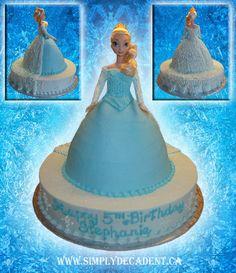 """Children's Birthday Cakes - Disney Frozen """"Elsa"""" Birthday Cake"""