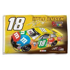 Kyle Busch NASCAR Flag